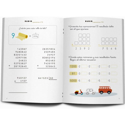 Cuaderno Problemas Rubio 5A detalle 1
