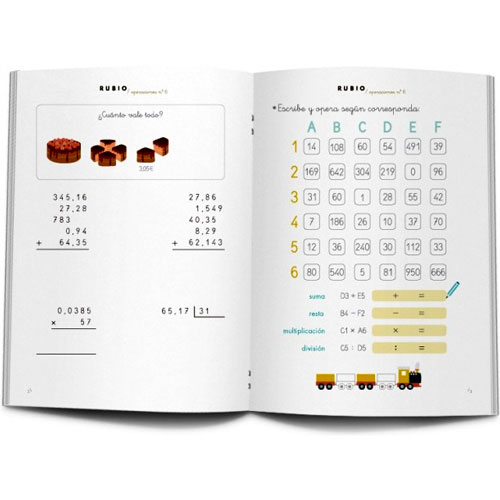 Cuaderno Problemas Rubio 6 detalle 1