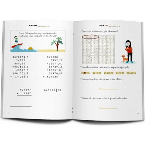 Cuaderno Problemas Rubio 6A detalle 1
