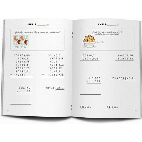Cuaderno Problemas Rubio 6A detalle 2