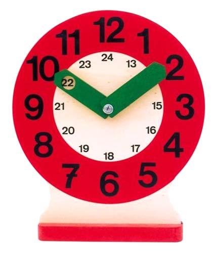 Reloj de aula madera