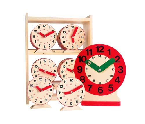 Reloj aula + 20 relojes alumno