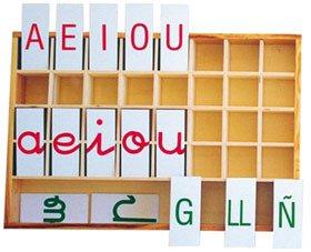 Alfabeto plástico mayúsculas/minúsculas caja