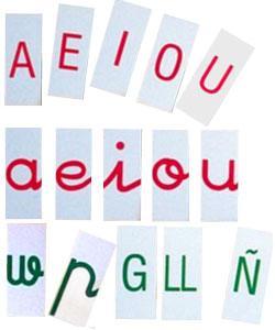 Alfabeto plástico mayúsculas/minúsculas sin caja