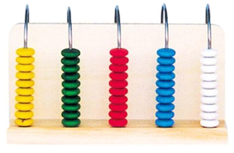 Ábaco vertical 5 columnas