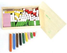 Regletas madera 2x2 - 174 piezas