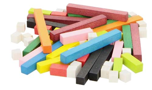 Regletas madera 2 x 2 - 67 piezas