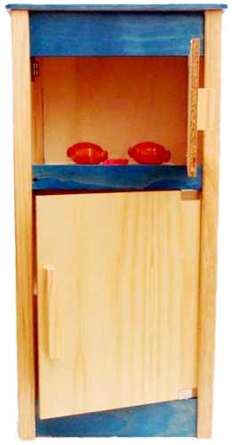 Frigorífico alto madera detalle 2