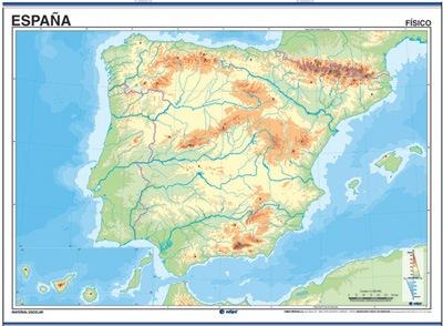 Mapa mudo españa físico / político