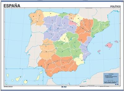 Mapa España reverso