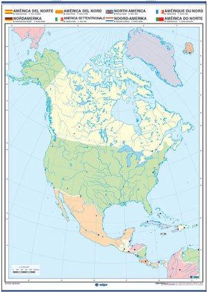 Mapa mudo Ámérica del Norte reverso