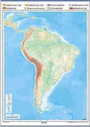 América del sur mudo f / p