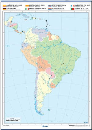 América del Sur reverso