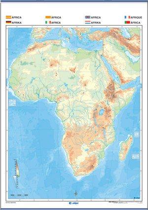 áfrica mudo físico / político