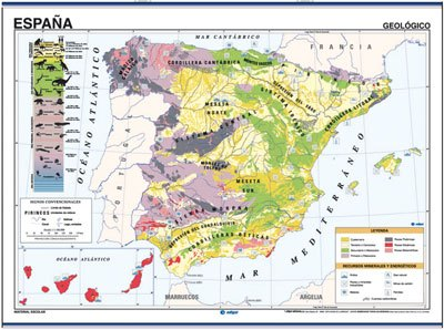 Mapa españa geológico / climático