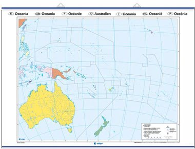 Mapa mudo oceanía f / p
