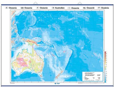 Mapa mudo Oceanía reverso