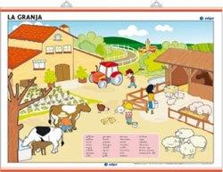 Lámina La granja / El zoo
