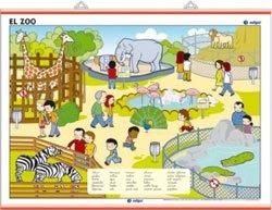 Lámina La granja - El zoo, revés