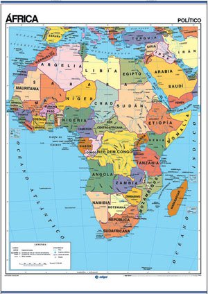 Mapa África reverso