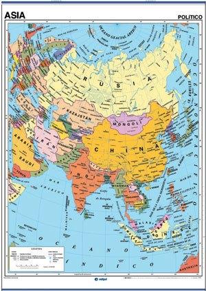Mapa Asia reverso