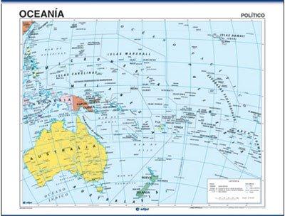 Mapa Oceanía reverso