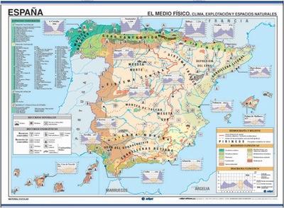 Mapa españa economía / regiones naturales