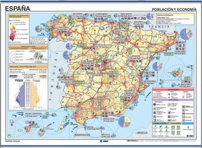Mapa España temático reverso