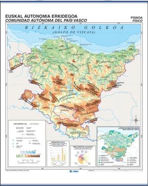 Euskadi físico / político (euskera)
