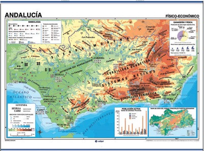Andalucía físico-político / económico-población