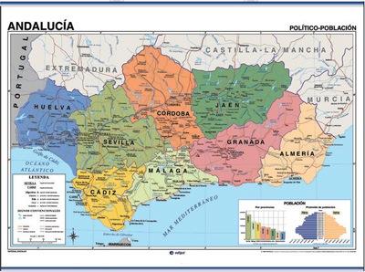 Reverso mapa Andalucía