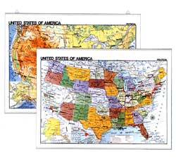 Mapa ?United States? Political / phisical