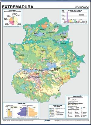 Mapa Extremadura reverso