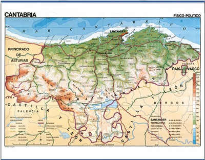 Cantabria físico / político