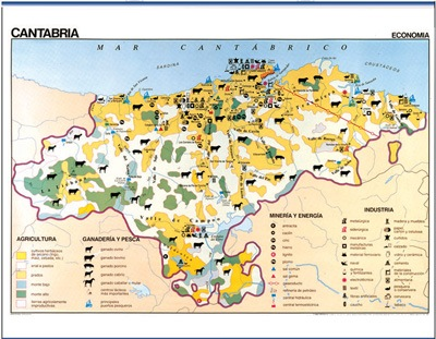 Mapa Cantabria reverso