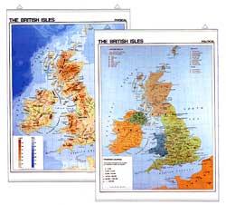 Mapa ?British isles? Political / phisical