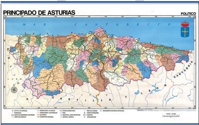 Mapa Asturias reverso
