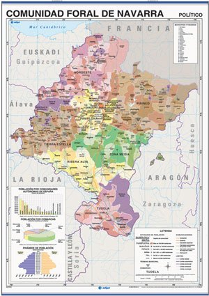 Mapa Navarra reverso