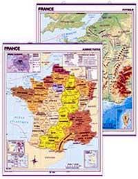 France, mapa mural 140x100 cm