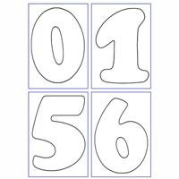 Láminas números decorar