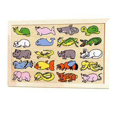 Puzzle animales 2 piezas
