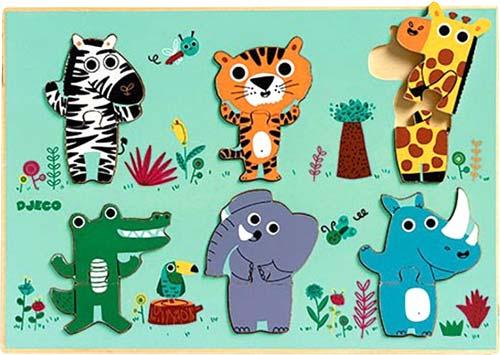 Puzzle-encajable 12 piezas la selva