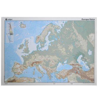 Mapa alumno Europa físico