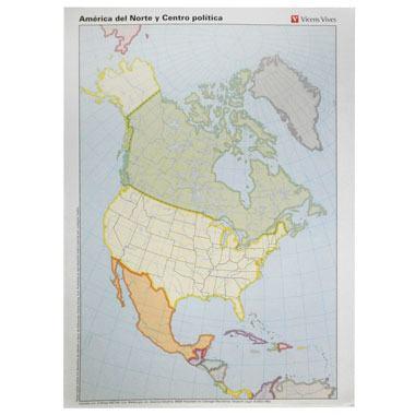 Mapa alumno Am. Norte político