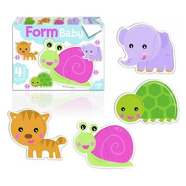 Puzzle form baby caracol
