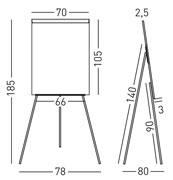 Pizarra caballete lacada 105x70 cm detalle 2