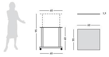 Detalle mesa de proyección mediana