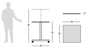 Detalle mesa de proyección pequeña