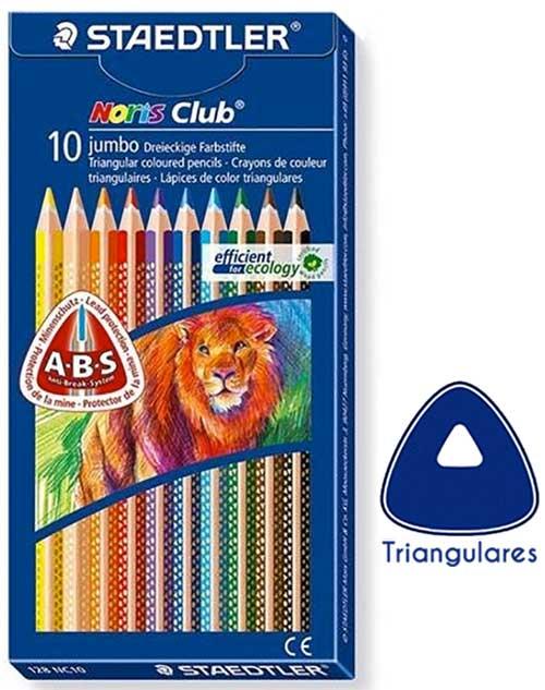 Lápices Jumbo triangulares 10 ud