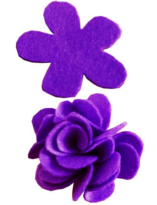 Fieltro A4 bolsa 10 ud violeta detalle 1